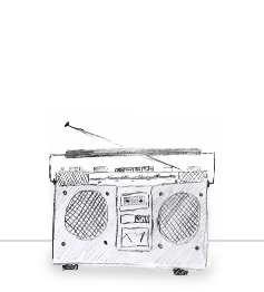 Illustration eines Radios